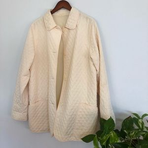 Jackets & Blazers - VINTAGE Quilted Pale Yellow Jacket